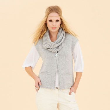 Off Duty Vest - from the fourth fabulous Sublime merino wool dk book