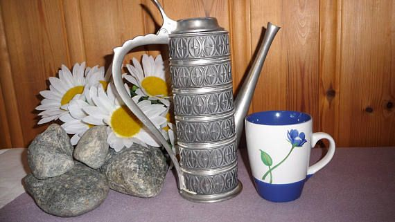 Vintage Norwegian Haugrud Pewter 307 Teapot Norway Tinn Wine Pitcher Decanter Scandinavian Decor  Look at the pictures carefully, they are a part of the description. All my items are vintage and keep in mind vintage items are not new. Items had a life before!  I am trying to show defects, but if you have any questions, please contact me. I am always ready to send more photos for you.  If you like an item, but do not like a price please contact me with your offer and maybe we will make a deal…