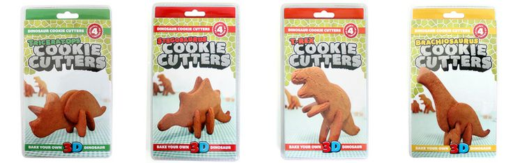 3D Dinosaur Cookie Cutters, to bake and build afterwards!