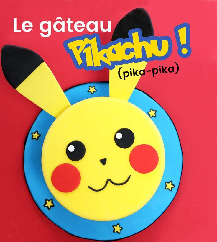 Vous allez vous amuser à réaliser ce gâteau Pikachu ! Avec sa bouille toute mignonne, et ses petites oreilles trop choupinoutes !