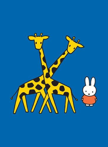 Miffy and Giraffes by Dick Bruna - art print from Easyart.com