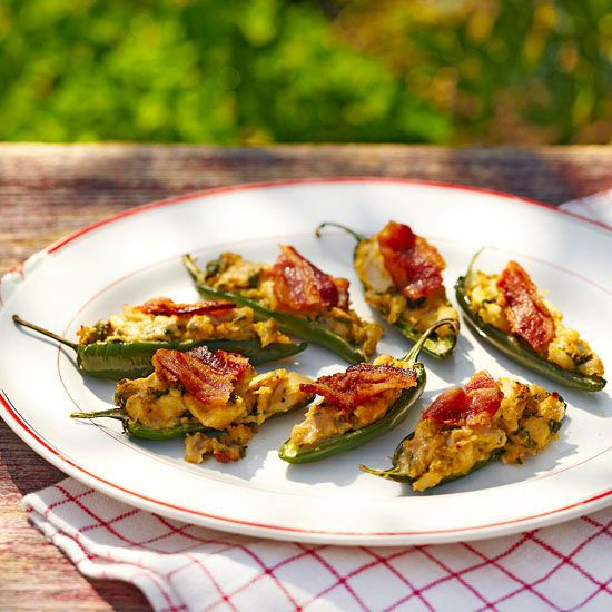 The secret to this spicy, tangy, 100-calorie appetizer? Peanut butter! Try it with jalapenos or larger Anaheim peppers./