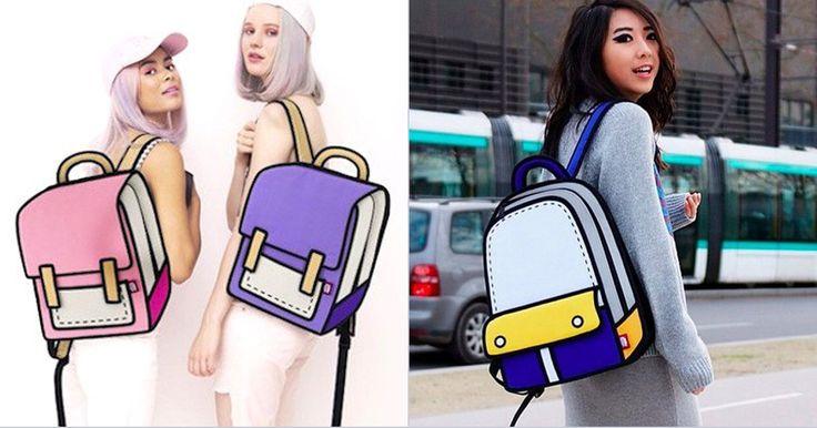JumpFromPaper, une société basée à Taiwan, vend des sacs qui ont l'air de sortir tout droit d'un dessin animé du samedi matin.