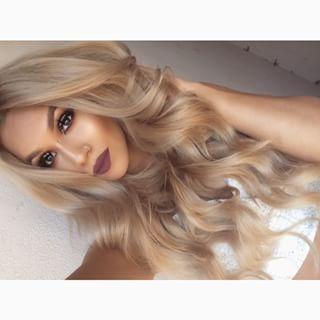 Dark champagne blonde   Love this shade of blonde