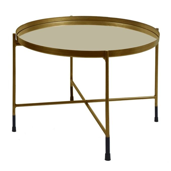 Table Basse Ronde Dusti Laiton Or Rendez Vous Deco La Redoute Table Basse Ronde Table Basse Deco Table Basse