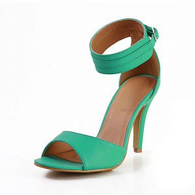 Compact+Leatherette+Stiletto+Heel+Sandals+with+Buckle+Party\Casual+Shoes(More+Colors)+–+USD+$+69.99