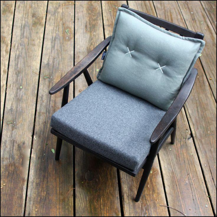 Eurovision... Danish mid century chair in grey felt