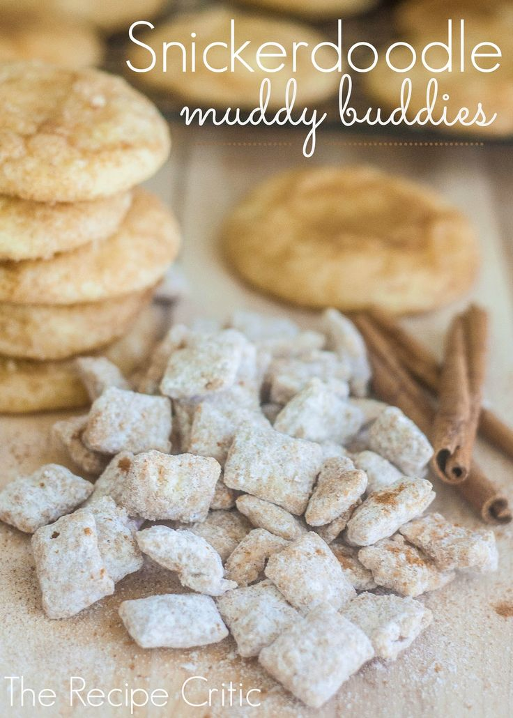 Snickerdoodle Muddy Buddies at http://therecipecritic.com  This is such an amazing and addicting snack that tastes like a snickerdoodle!