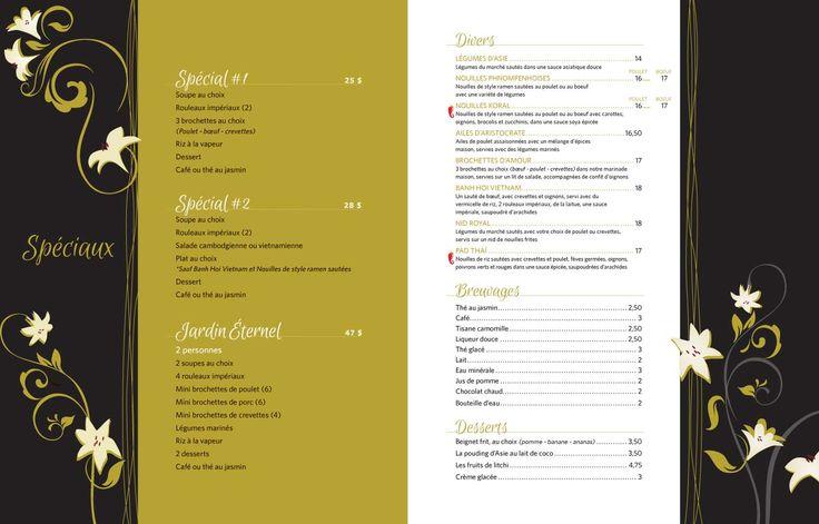 Restaurant thaï Joliette | Menu | Restaurant Cambodiana