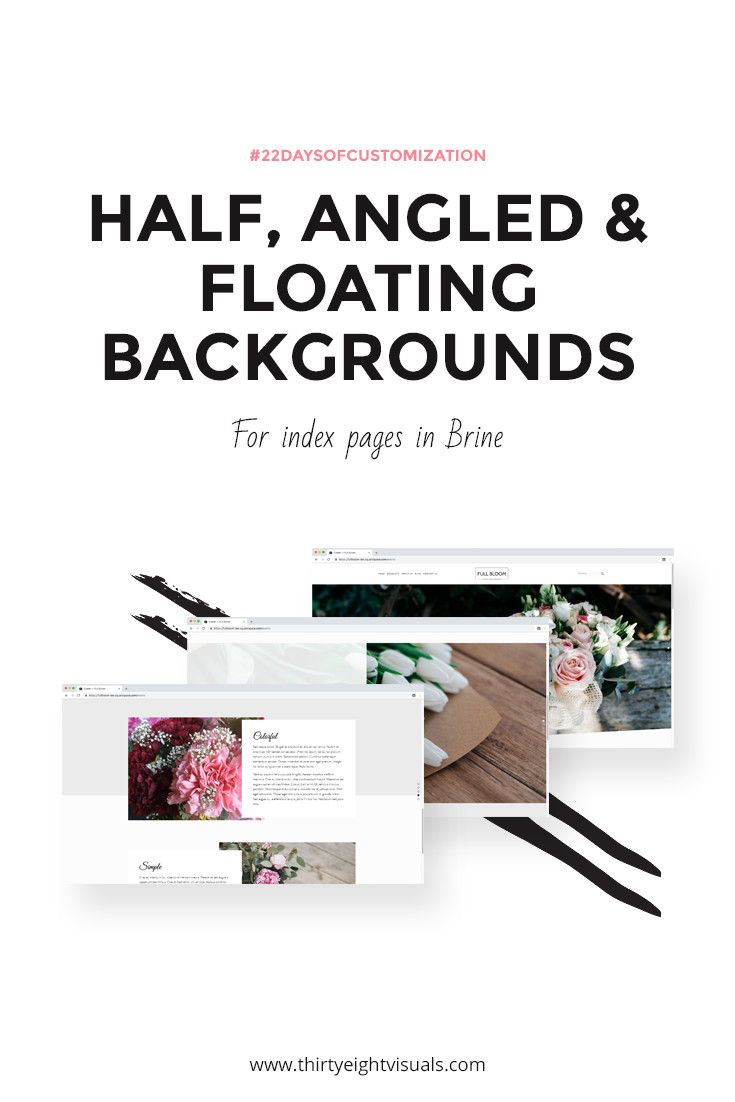 Creating Half Angled And Floating Effect Backgrounds In Brine