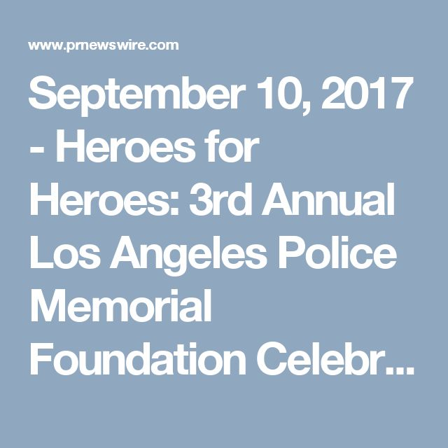 September 10, 2017 - Heroes for Heroes: 3rd Annual Los Angeles Police Memorial Foundation Celebrity Poker Tournament & Casino Night Party   Guests expected to attend this year include: Kenny Johnson, Carl Weathers, Lou Diamond Phillips, Mekhi Phifer, Michael Cudlitz, Steven Bauer  with many surprise guests.