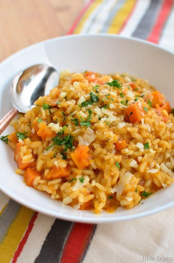 Little Grazers Roasted Butternut Squash Risotto - gluten free, blw, baby led weaning, fussy eaters, family meals, kids meals