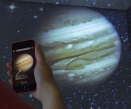 Hold the cosmos in the palm of your hand with the smartphone planetarium projector. Using just your smartphone to navigate, you can project various images of different planets and stars to transform the walls of any room.