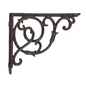 vintage wrought iron brackets | PAIR WROUGHT IRON BRACKETS VICTORIANA SMALL