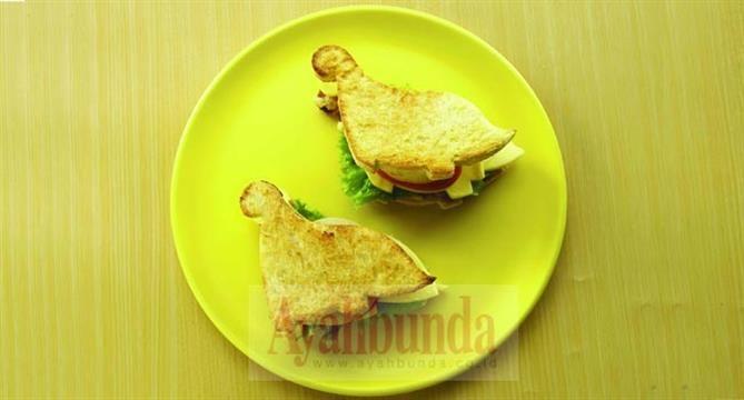 Roti Sandwich Bakar Ayahbunda.co.id
