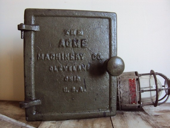 Vintage Industrial Access Door  The Acme Machinery by vintage215, $59.00