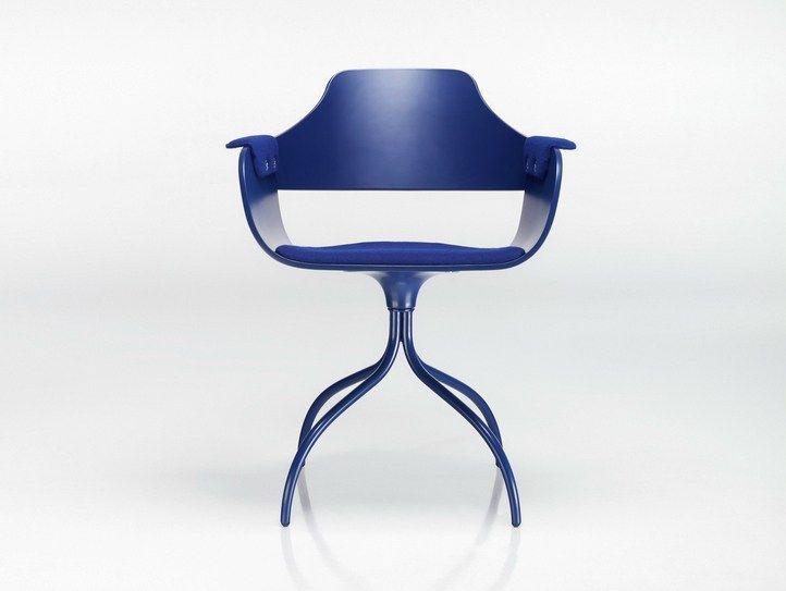 Cadeira giratória de alumínio com cavalete Coleção Showtime by BD Barcelona Design | design Jaime Hayón