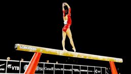 """mustafinesse: """"""""Morgan Hurd (USA) qualifies in second to the balance beam final at the 2017 World Artistic Gymnastics championships with a score of 13.500."""" """""""