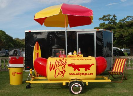 """""""Willy Dog"""".....In hard times, some people like Andrea and Ben Guajardo in Bandara, Texas, are turning to a new livelihood with relish. Many of today's street food vendors are working professionals with day jobs, ranging from real-estate agents to train operators. They are generally older, buying vending carts in anticipation of a job layoff or as a way to supplement their incomes."""
