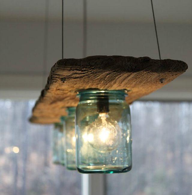 Pour donner un côté rustique et chaleureux à votre habitation, vous pouvez réaliser, vous même, des lampes, histoire de personnaliser votre décoration intérieure...