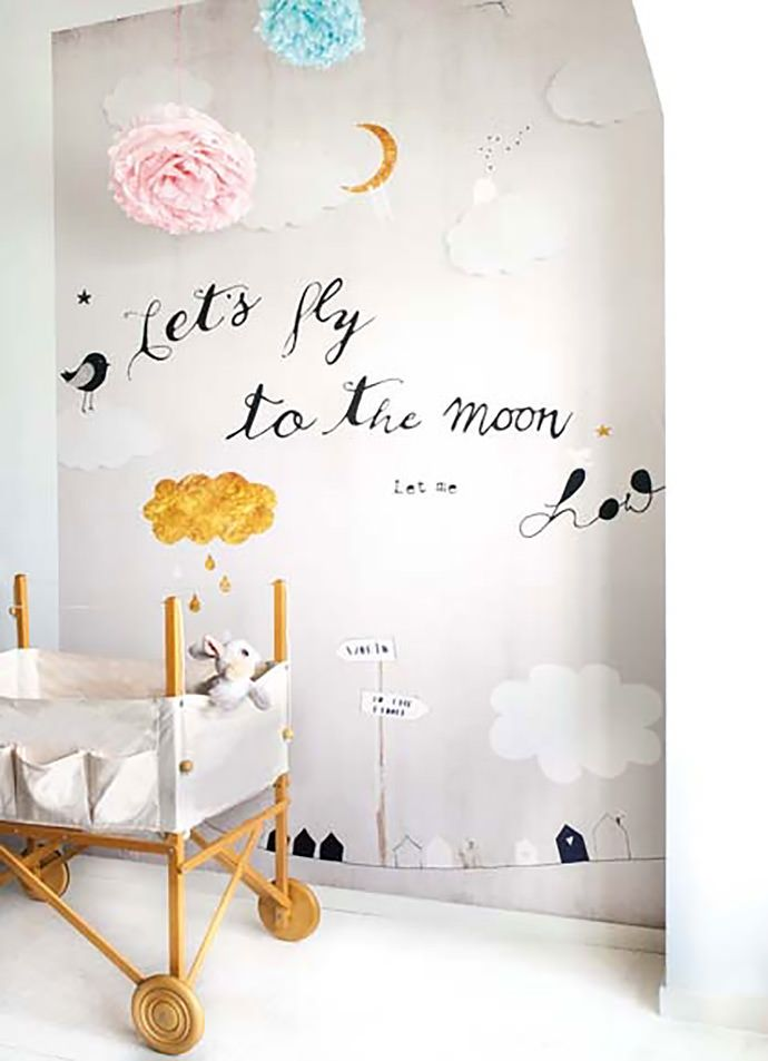 Playful nursery wallpaper
