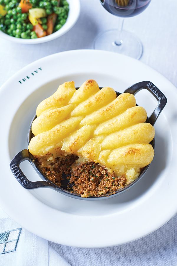 One of the most striking things about The Ivy is its all-encompassing menu, providing succour for all tastes and their Shepherd's Pie is famous. The Ivy's version uses minced lamb and beef, making it a hybrid of shepherd's and cottage pies. The ingredients render it rich and deeply satisfying. Serves 6.