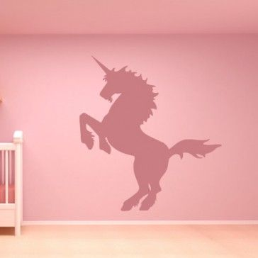 Aggressive Unicorn Wall Sticker Wall Art Decal - Mythical Creatures - Fantasy