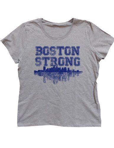Women`s Boston Strong Distressed Charity T-shirt