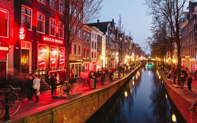 Amsterdam's Red Light District you got mixed feelings when you visit this city