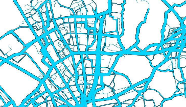 """www.bikeprint.nl  Joost de Kruijf van NHTV """"Bike PRINT vertaalt GPS-data van fietsverplaatsingen in beleidsrelevante informatie en geeft de gebruiker een gedetailleerd beeld van het actuele fietsgebruik, de netwerkkwaliteit en de fietspotentie (bereikbaarheid)."""""""