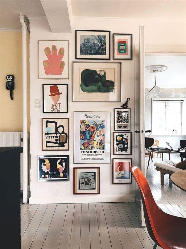 Billedet Her Over Er Mit Absolutte Yndlingsspot I Huset I Ojeblikket Hver Aften Nar Jeg Gar I Seng Sa Ki Industrial Chic Decor Dining Room Decor Modern Decor