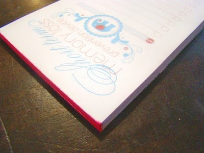 Make your own notepads - with printable