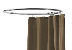 Circular Shower Curtain Rail 1000mm Nickel