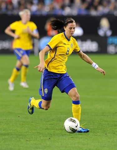 Sweden's most dangerous scorer, Lotta Schelin will likely find the back of the net with frequency in London.