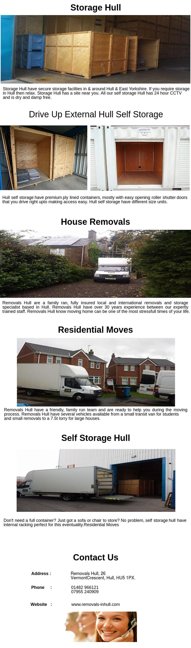 Removals Hull have over 30 years experience between our expertly trained staff.