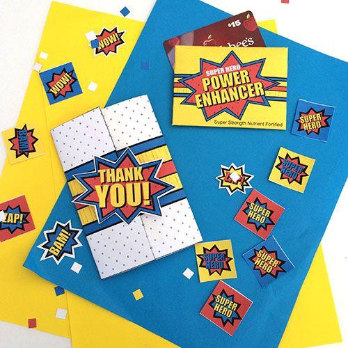 You Are My Super Hero Teacher Appreciation Printables