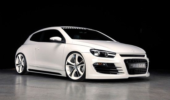 This white carbon kitted VW Scirocco is Smoking HOT!!!!