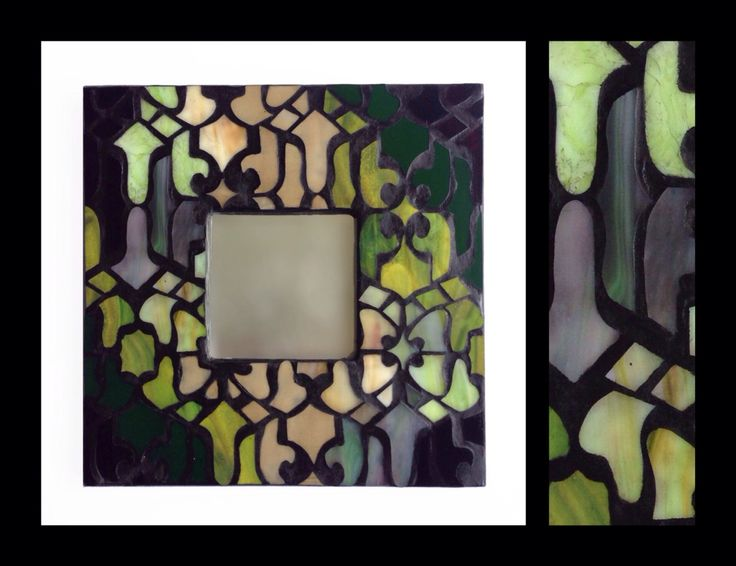 "'Mediterranean' - Glass Mosaic Mirror - 10""x10"" - by Smash Glassworks [SOLD]"