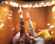My kids are learning constellations and this cardboard box planetarium was lots of fun for all of us.