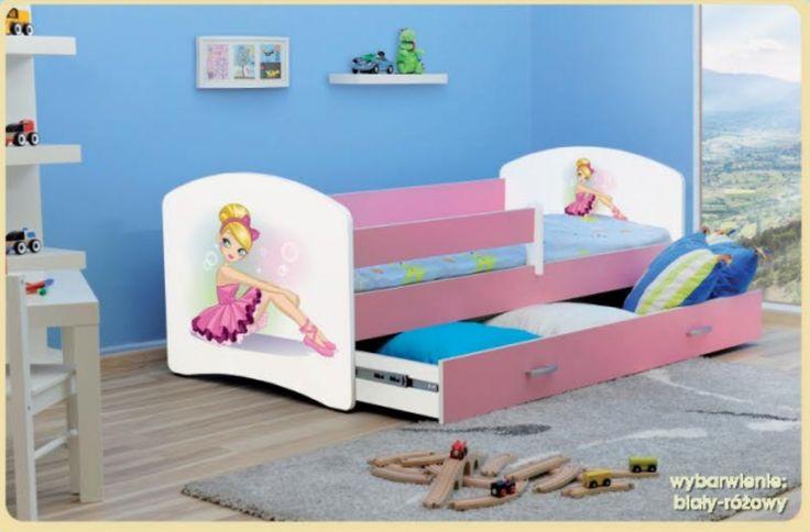 Łóżko LUCY to solidne a zarazem dekoracyjne łóżko, idealne dla dziewczynki. Posiada funkcjonalną szufladę na pościel. W cenie łóżka jest materac z odpinanym pokrowcem.