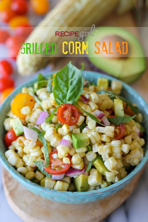 Grilled Corn Salad  - looks good minus the avocados..