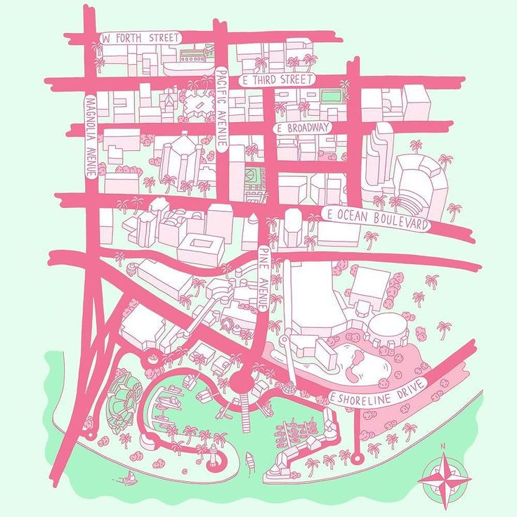 New map for @southwestmagazine  Long Beach California.  _ #illustration #map #drawing #southwestairlines #usa #longbeach #california #america #handdrawn #illustrated #illustrator #andrewjoyce #doodlesandstuff #magazine #flight #inflight #イラストレーター #イラスト#地図 #アメリカ #カリフォルニアディズニー