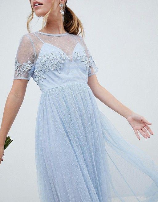 Asos Petite Asos Design Petite Lace And Dobby Mesh Overlay Maxi Dress Shop Maxi Dresses Maxi Dress Petite Dresses