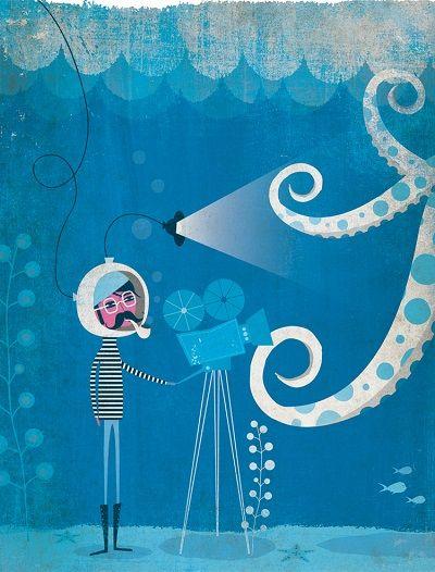 por Andrew Bannecker. Ilustración, Iconocero, artwork, sketch, drawing, monsters, personajes adorables, oceano, pulpos.