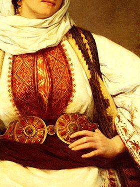 Une Beaute Orientale (An Oriental Beauty) by Henriette, Hon. R.I. Browne (detail)