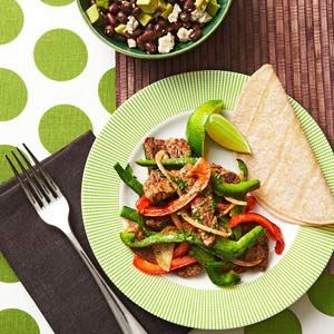 Beef Stir-Fry w/ Avocado Salad; Link to 20 healthy food ideas