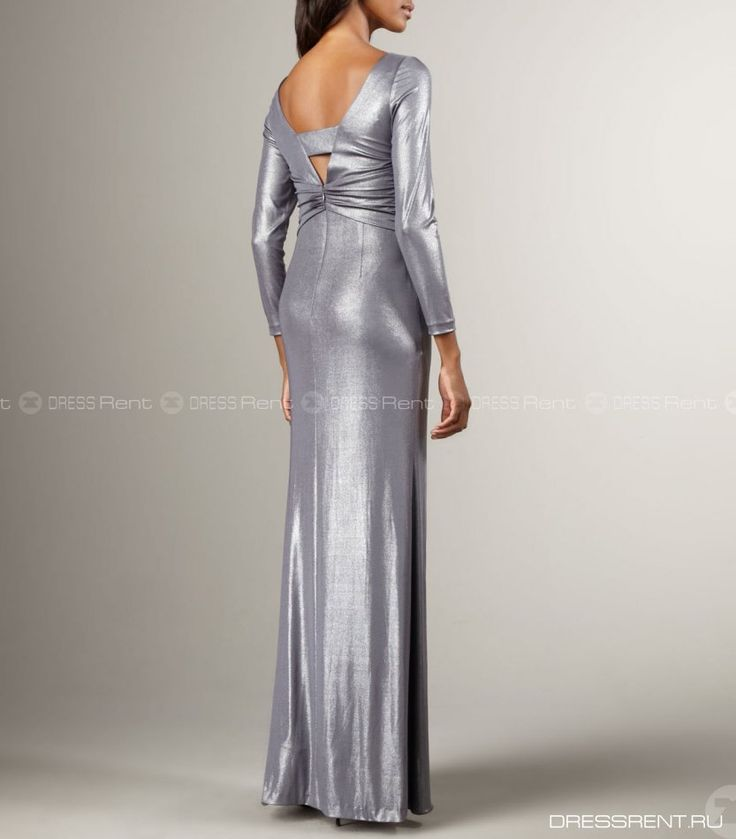 Платье - Phoebe by Kay Unger  | Metallic V-Neck Gown