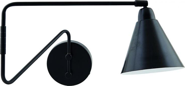 Wandlamp Game - Zwart/Wit - Dia 15cm - IJzer - House Doctor
