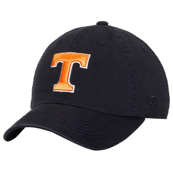 Tennessee Volunteers Top of the World Solid Crew Adjustable Hat - Black