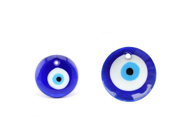 1Pc Free shipping 75mm evil eye glass beads evil eye pendant evil eye charm